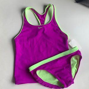 Nike Kids Girl's Solid Racerback Tankini